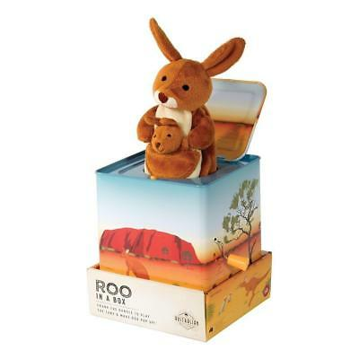 NEW The Australian Collection Roo in a Box Kangaroo Musical Tin Jack in The Box