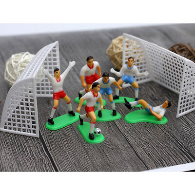 Football Figure Cake Toppers Cupcake Set 8 Birthday Decoration Big Soccer Player