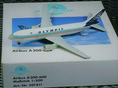 ●New● Herpa Wings 501811 Olympic Airways A300-600 1:500 Rare Diecast Plane●Air-1