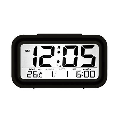 Digital Alarm Clock Snooze & Nightlight Calendar Snooze Battery Operated Date