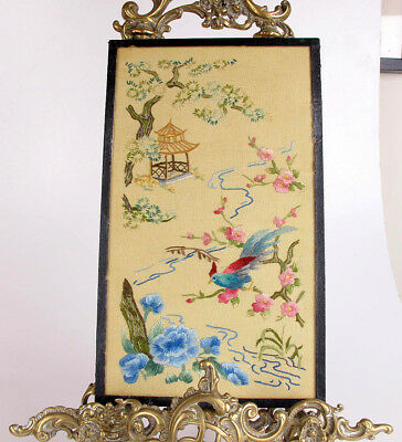 Antique Chinese Embroidery Famille Rose