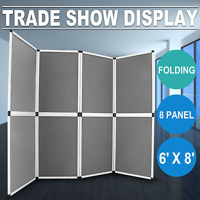 Folding Display Board 8 Panels Trade Show Advertising Banner Stand Portable