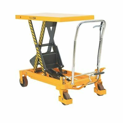 Yellow and Black Mobile Lifting Table 150kg Capacity 329455 [SBY13436]