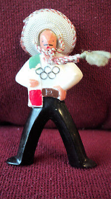 Rare Vintage Summer Olympic Games Mexico 1968 Plastic Mascot Figures