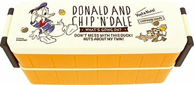 New! Disney 2 Step Lunch Box Donald and Chip 'n Dale Japan F/S