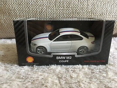 Shell BMW M2 Coupe 1:43 Modell Auto Spielzeug Pull Back Action NEU