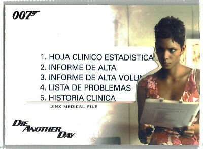 The Complete James Bond Relic Card Jinx Medical File RC11 Halle Berry