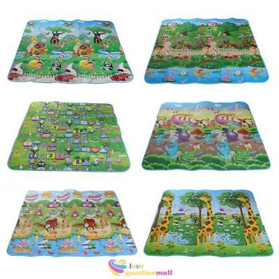 200x180cm Two Side Kids Crawling Educational Game Play Mat Baby Soft Foam Carpet