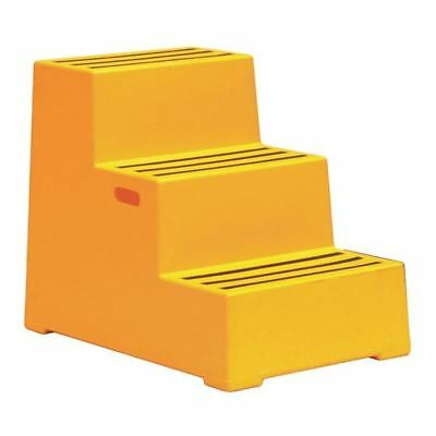 Plastic Safety Step 3 Step Yellow 325100, 440x795x620mm [SBY11644]