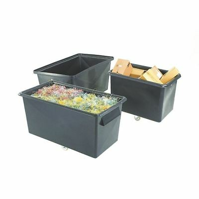 Recycled Container Truck Poly Tapered Sided Black 329063 [SBY13295]
