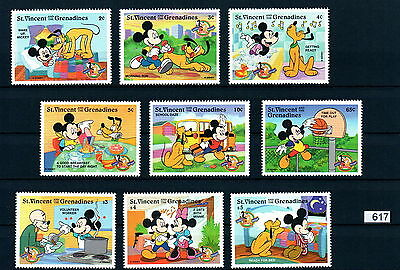 X0 Disney 617 St. Vincent SC# 2562-70 Mickey Mouse 70th Anniversary Set of Stam
