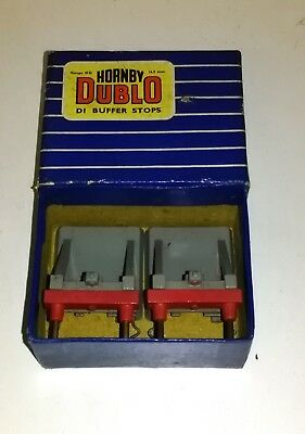 Hornby Dublo 3-Rail - Buffer Stops x 2 with Box. Used but Good Condition.