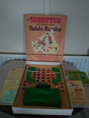 Vintage Subbuteo Table Rugby, (International Edition)  COMPLETE