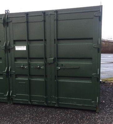 10 ft Long 8 ft Wide Green/blue or Red Steel Storage Container Second Hand - Sto