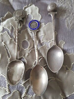 SOLID SILVER SPOONS X 3 sandwell park