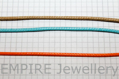"3 x Mixed Waxed Cotton Necklaces Approx 45cm 18"" Long 2.0mm Diam Chain Clasps"