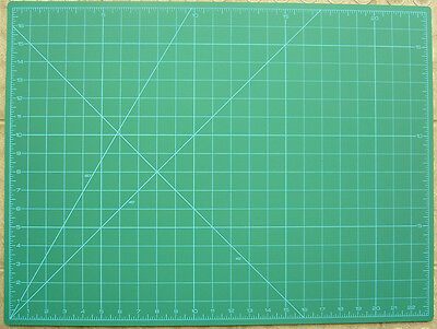 Self-healing Cutting Mat 12'' x 18'' Green with Metric & Imperial Measurements