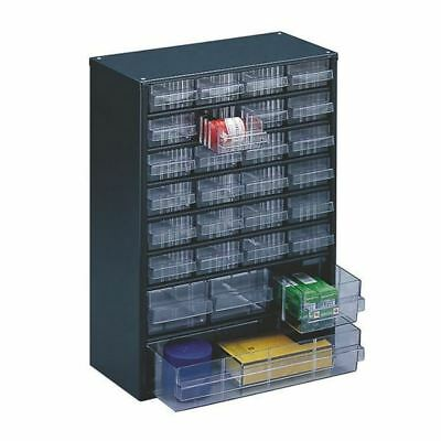 Clear 28 Drawer System Dark Grey Storage Cabinet 324128 [SBY11353]