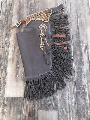 Premium Smooth  Leather Custom Cowboy Chinks- Small and Large- New