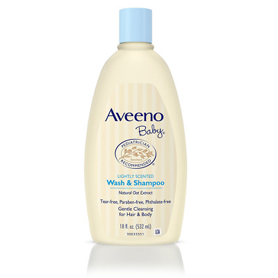 Aveeno Baby Wash & Shampoo Bathtime Care Safe & Gentle18 oz.