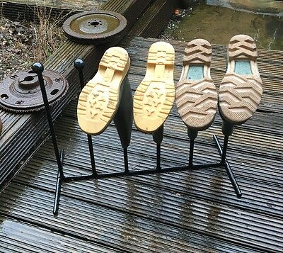3 Pairs Wrought Iron Welly Wellington Boot Rack Stand 2/3/4/5/6 Available