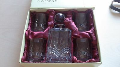 Galway Crystal Decanter And Glasses Set...... Kells Range