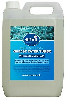 Envii Grease Eater Turbo - Bacterial Grease Trap Cleaner & Drain Unblocker - 5L