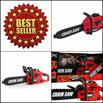 NEW Power Tool Electric Chainsaw Toy Set Kids Learning Play Kit Pretend Play