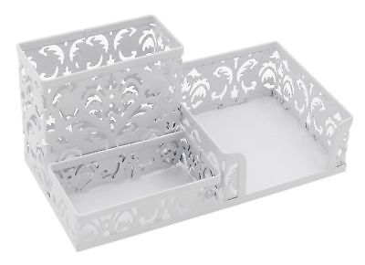 EasyPAG Desktop Flower Pattern 3 Compartment Office Supplies Holder Organizer