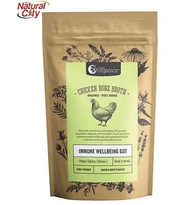 Nutra Organics Chicken Bone Broth ORGANIC 100g Garden Herbs Flavour -Free Sample