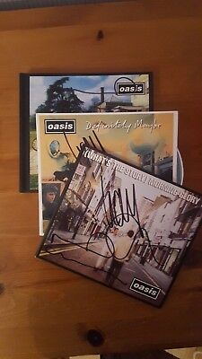 Oasis Signed Liam & Noel(Definitely Maybe, Morning Glory & Be He Now) With Proof