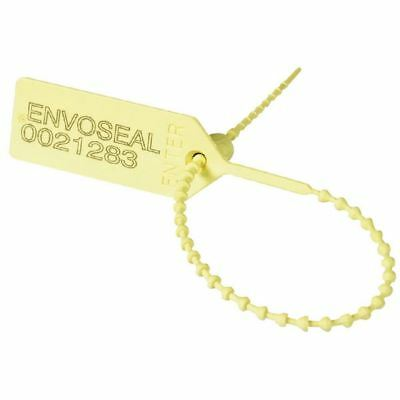 Security Seal Pull Tight 149mm Numbered Yellow (Pack of 1000) 323473 [SBY11134]