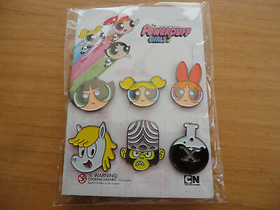 Powerpuff Girls.Set of 6 enamel Pin Badges.New.VERY RARE.Promo item only