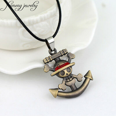 Fashion Charm One Piece Collectibles Necklace Anime Pirate Skull Jewelry Cosplay
