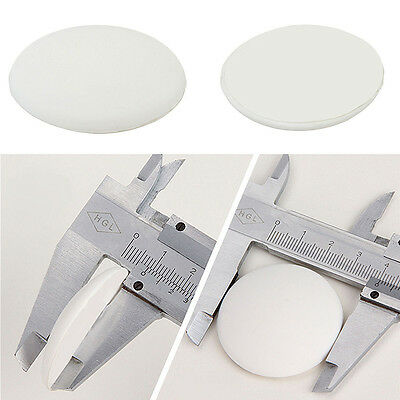 2x Round Wall Protector Self Adhesive Door Handle Bumper Guard Stopper RubberYF