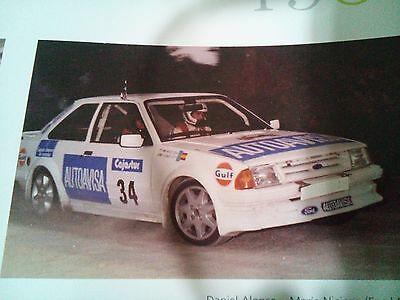 Calcas/decals 1/43, Ford Escort Rs Turbo, D. Alonso, Rally San Agustin 1988