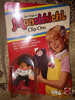 Sekiguchi 1974 MONCHHICHI CLIP-ON BIRTHDAY BOY OVP Monchichi Rarität #z353
