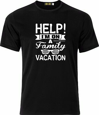 Help I'm On A Family Vacation Gift Present Christmas 100% Cotton T Shirt