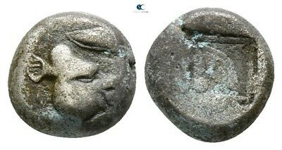 Savoca Coins Lesbos Uncertain Mint Bi Diobol Boar Eye 1,05 g / 8 mm /JJD12133
