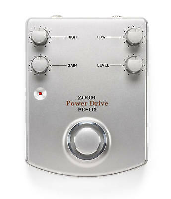 Zoom Pd-01 Analogue Power Drive Overdrive Guitar Effects Pedal
