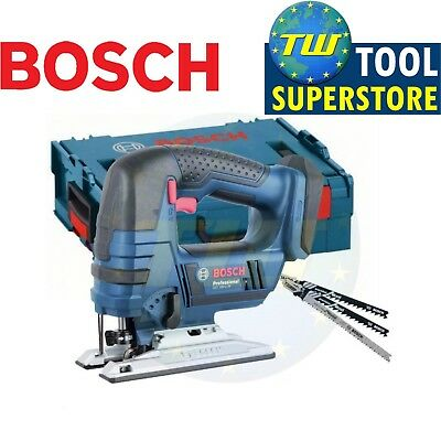Bosch GST18V-LIN Professional 18V Jigsaw Body Only with Size 2 LBoxx & 3x Blades