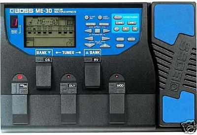 Boss Me-30 Guitar Multi Effects Pedal + Manual & Power Supply 20 50 70 80