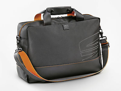Original SEAT Aktentasche Laptoptasche anthrazit/orange mit SEAT Logo