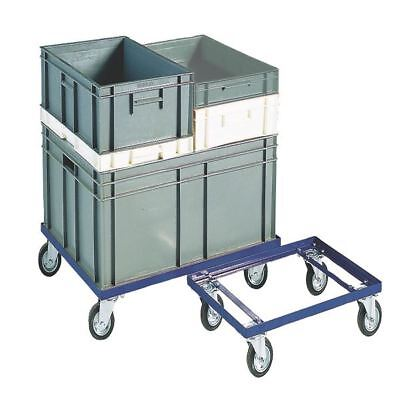 Blue 200kg Container Dolly 100mm Rubber Castors 321516 [SBY10504]