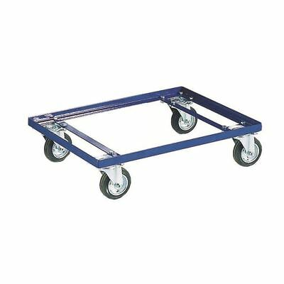 Blue 100kg Container Dolly 100mm Rubber Castors 321515 [SBY10503]