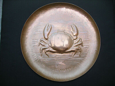 Newlyn Copper Crab Plate/Tray. Stamped. Arts & Crafts. Rare.