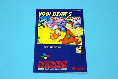 Super Nintendo SNES - YOGI BEAR´S CARTOON CAPERS - Spielanleitung Manual Booklet