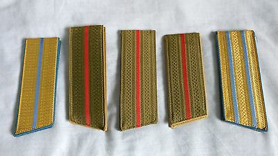 Russian/soviet Army Shoulder Boards Epaulettes, 5 Pairs