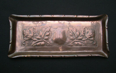 Newlyn Copper Tray. Genuine Newlyn Stamped. Arts & Crafts. Rare
