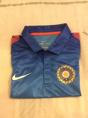 Nike INDIA Cricket National Team Dri-Fit Shirt ICC Size M Brand New Without Tags